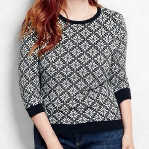Lands End Supima 100% Cotton 3/4 Sweater XSP